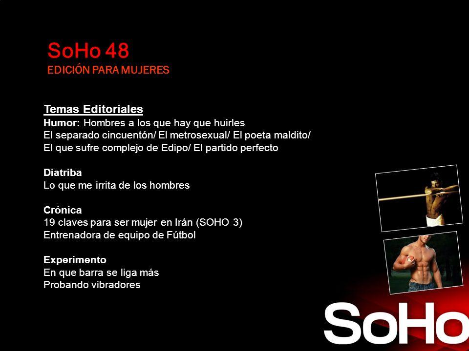 SoHo 48 EDICIÓN PARA MUJERES Temas Editoriales