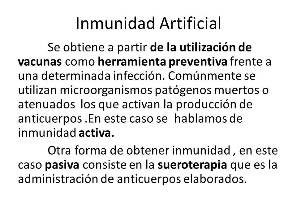 Inmunidad Artificial