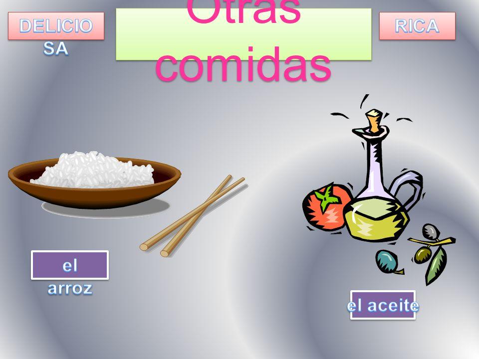 Otras comidas DELICIOSA RICA el arroz el aceite