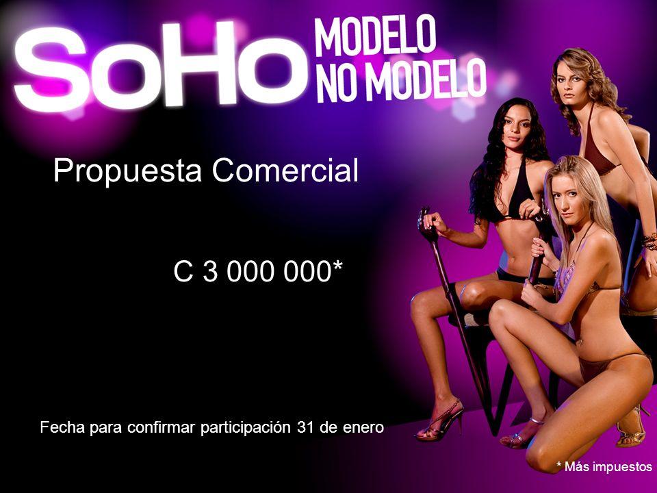 Propuesta Comercial C 3 000 000* 3,000,000*