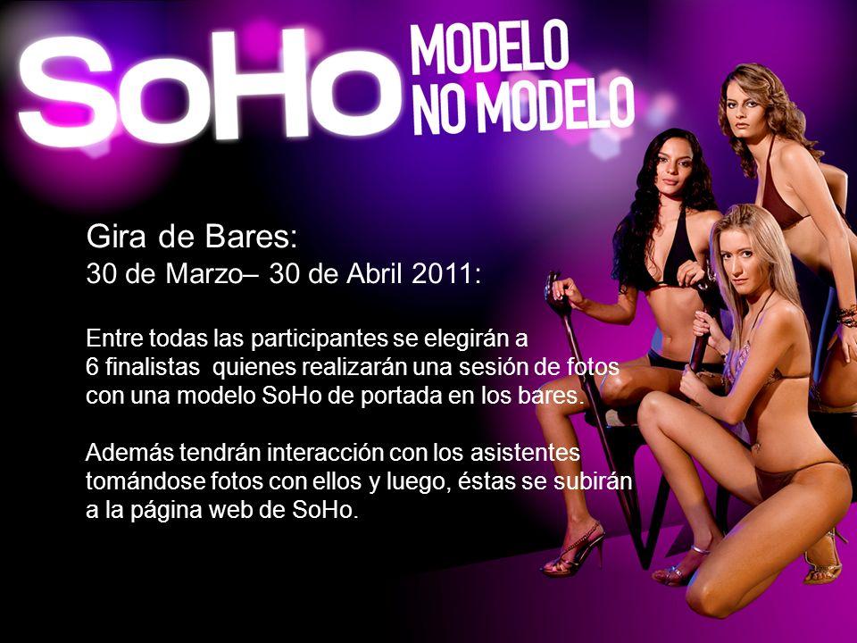 Gira de Bares: 30 de Marzo– 30 de Abril 2011: