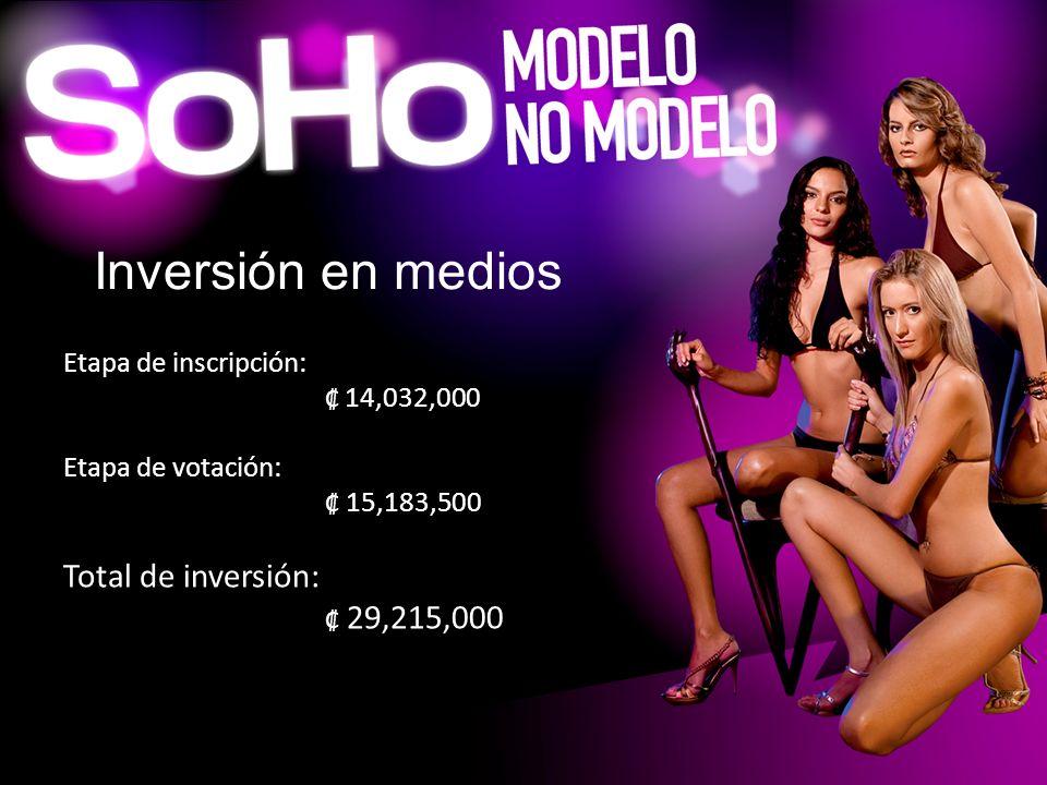 Inversión en medios Total de inversión: ₡ 29,215,000