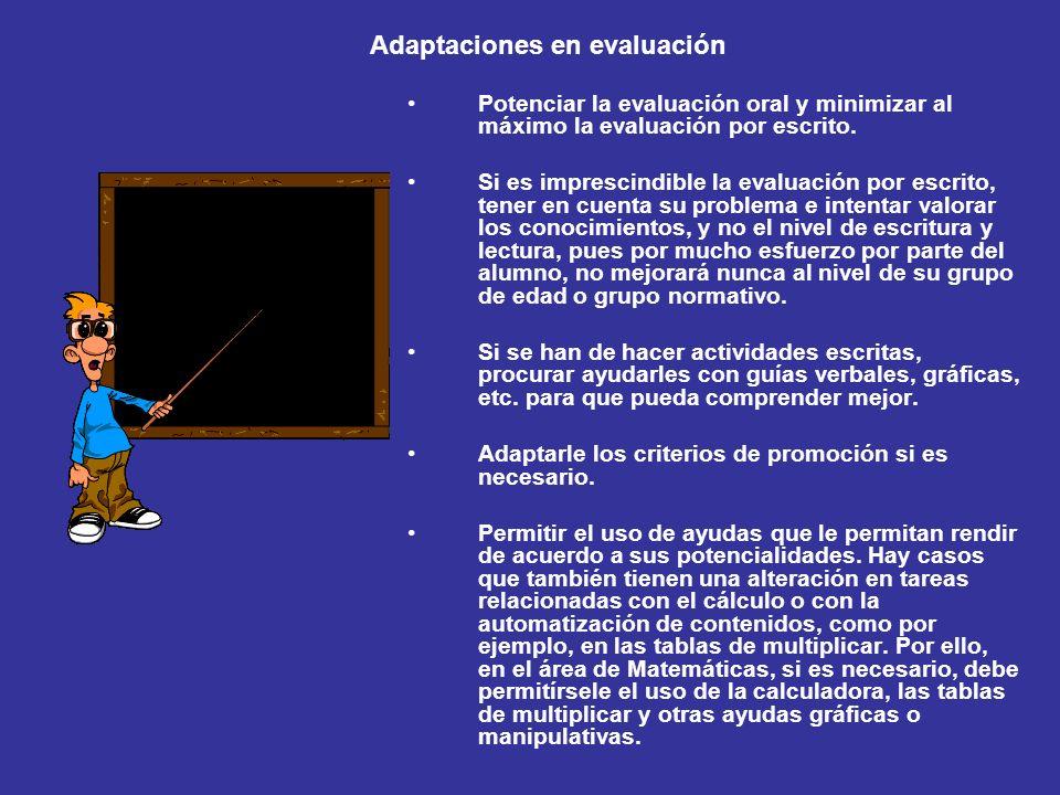 Adaptaciones en evaluación
