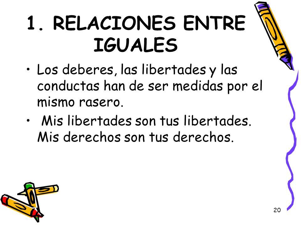 1. RELACIONES ENTRE IGUALES