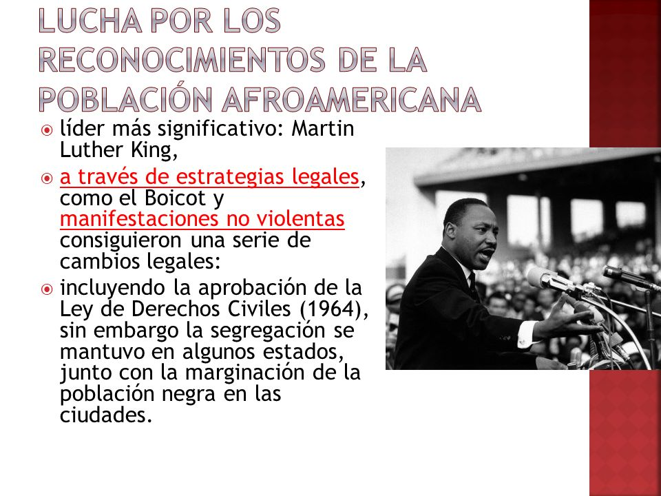 Lucha por los reconocimientos de la población afroamericana
