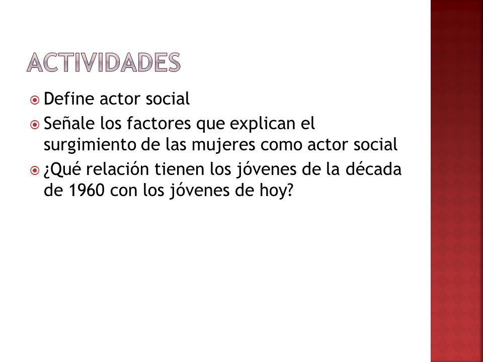Actividades Define actor social