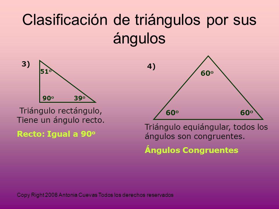 Clasificación de triángulos por sus ángulos