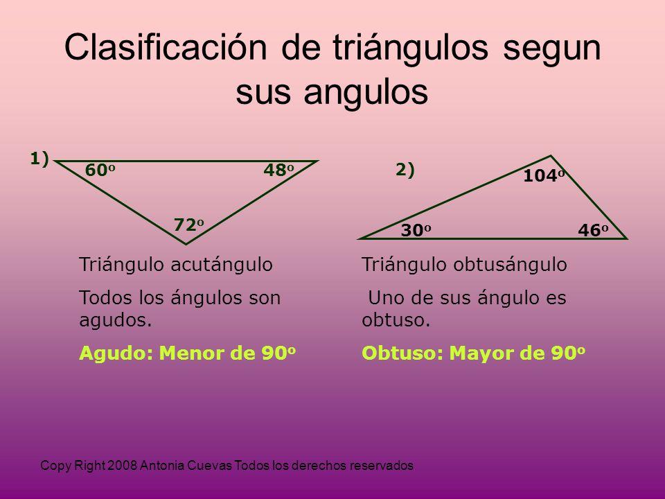 Clasificación de triángulos segun sus angulos