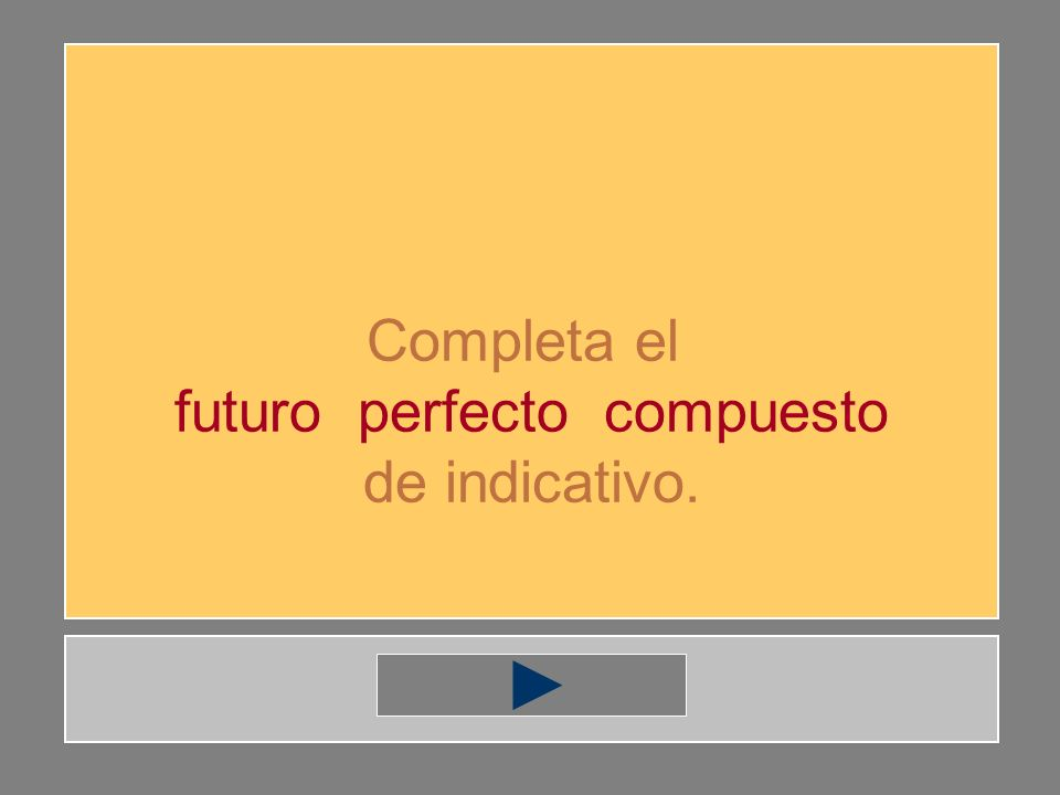 futuro perfecto compuesto
