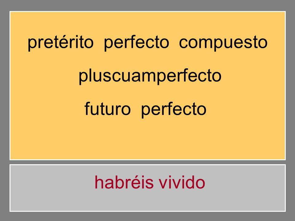 pretérito perfecto compuesto