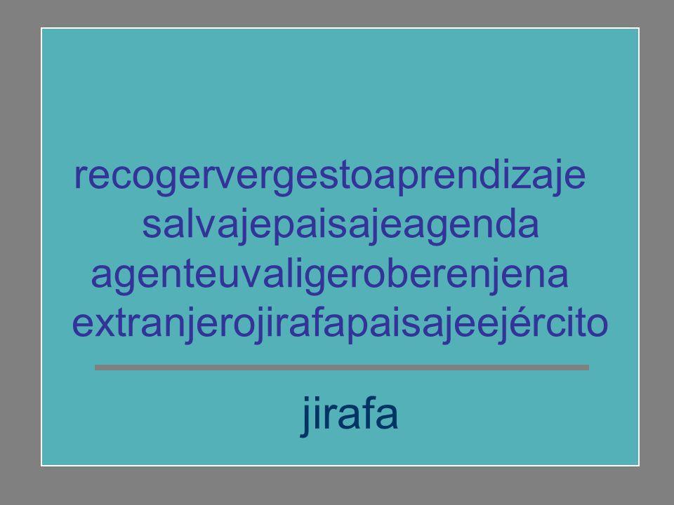 jirafa recogervergestoaprendizaje salvajepaisajeagenda