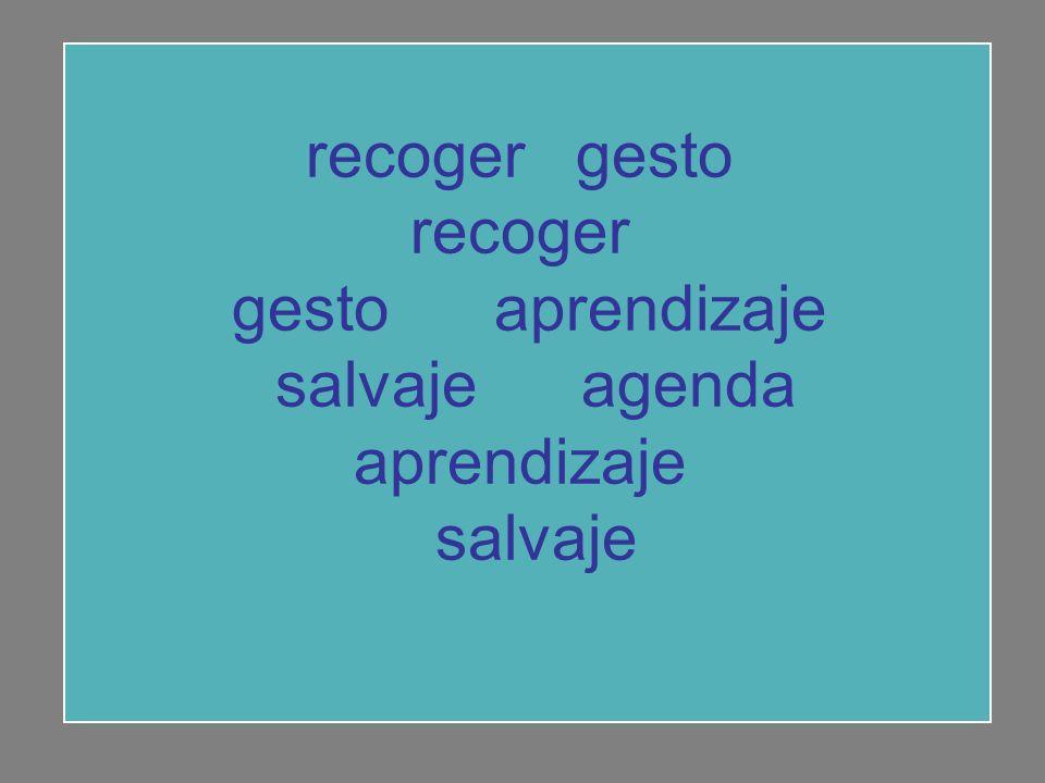 recoger gesto recoger gesto aprendizaje salvaje agenda aprendizaje salvaje