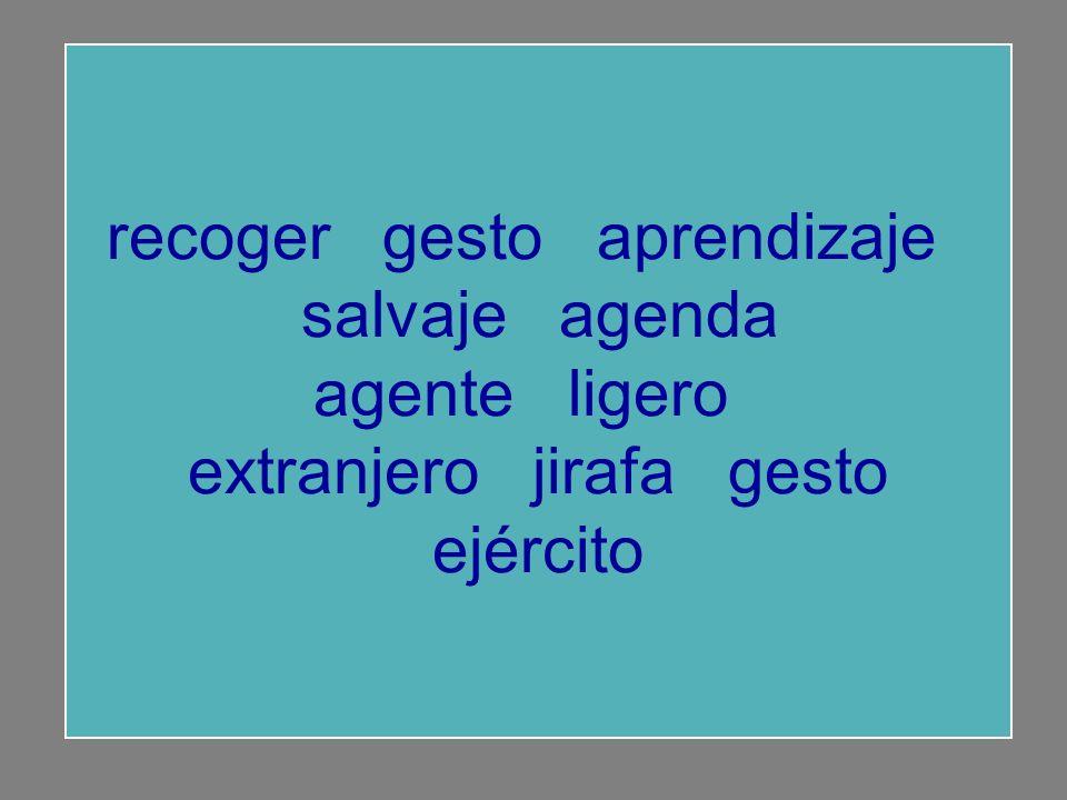 recoger gesto aprendizaje salvaje agenda agente ligero