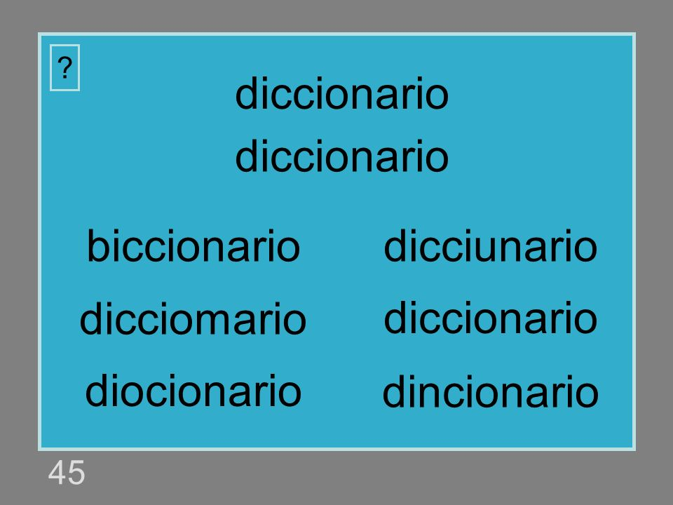 diccionario diccionario biccionario dicciunario dicciomario