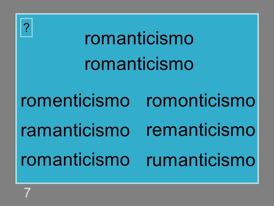 romanticismo romanticismo romenticismo romonticismo ramanticismo