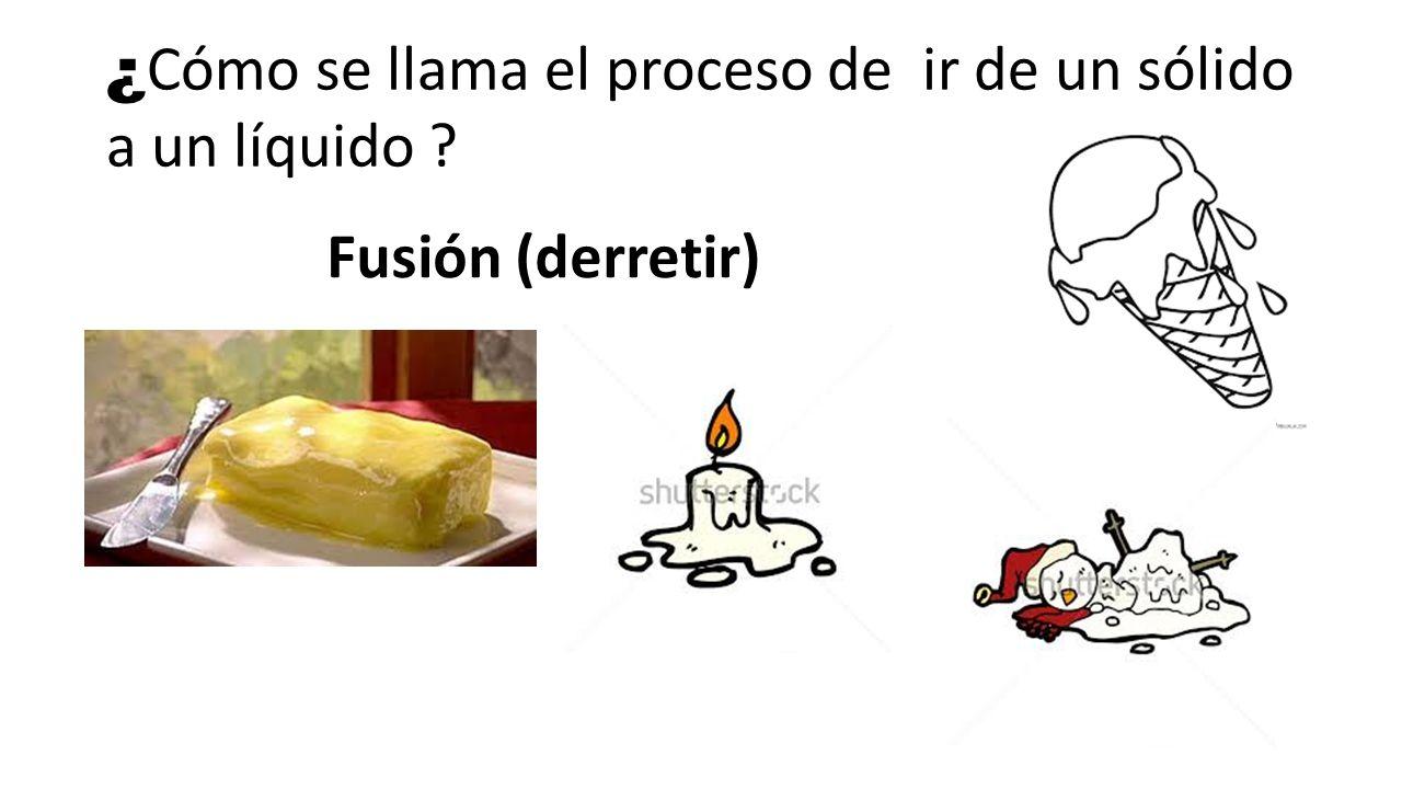 ¿Cómo se llama el proceso de ir de un sólido a un líquido