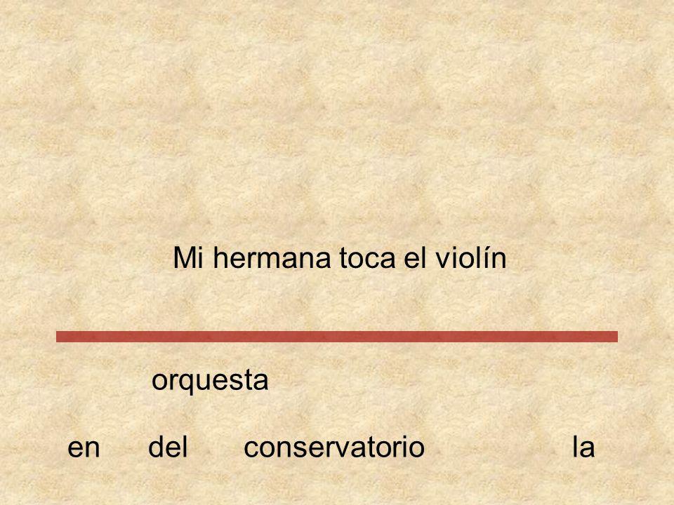 Mi hermana toca el violín
