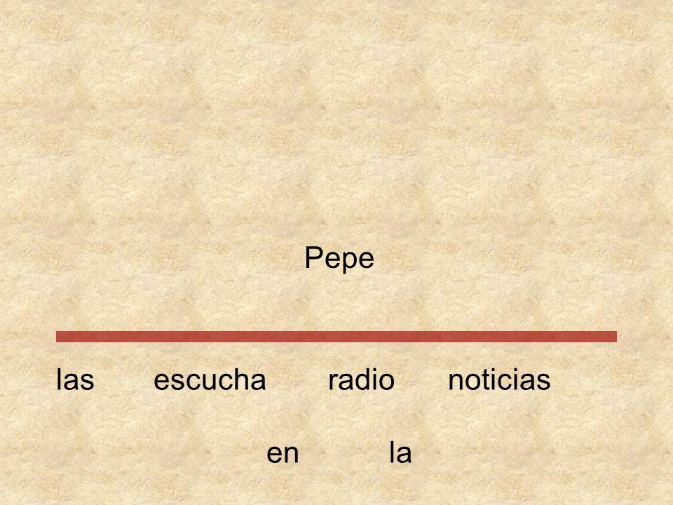 Pepe las escucha radio noticias en la