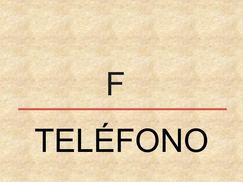 F TELÉFONO