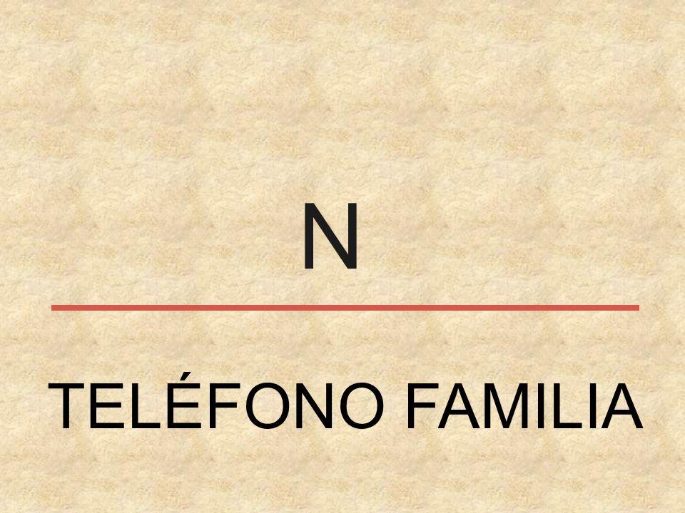 N TELÉFONO FAMILIA