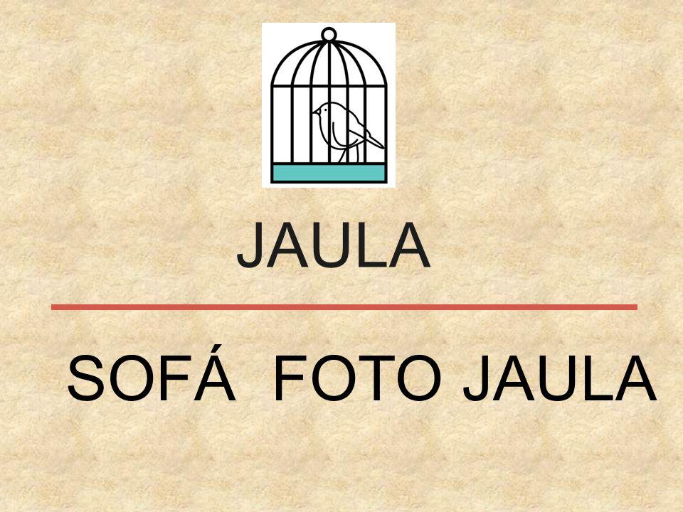 JAULA SOFÁ FOTO JAULA