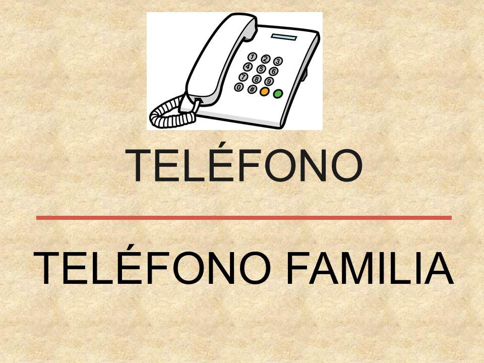 TELÉFONO TELÉFONO FAMILIA