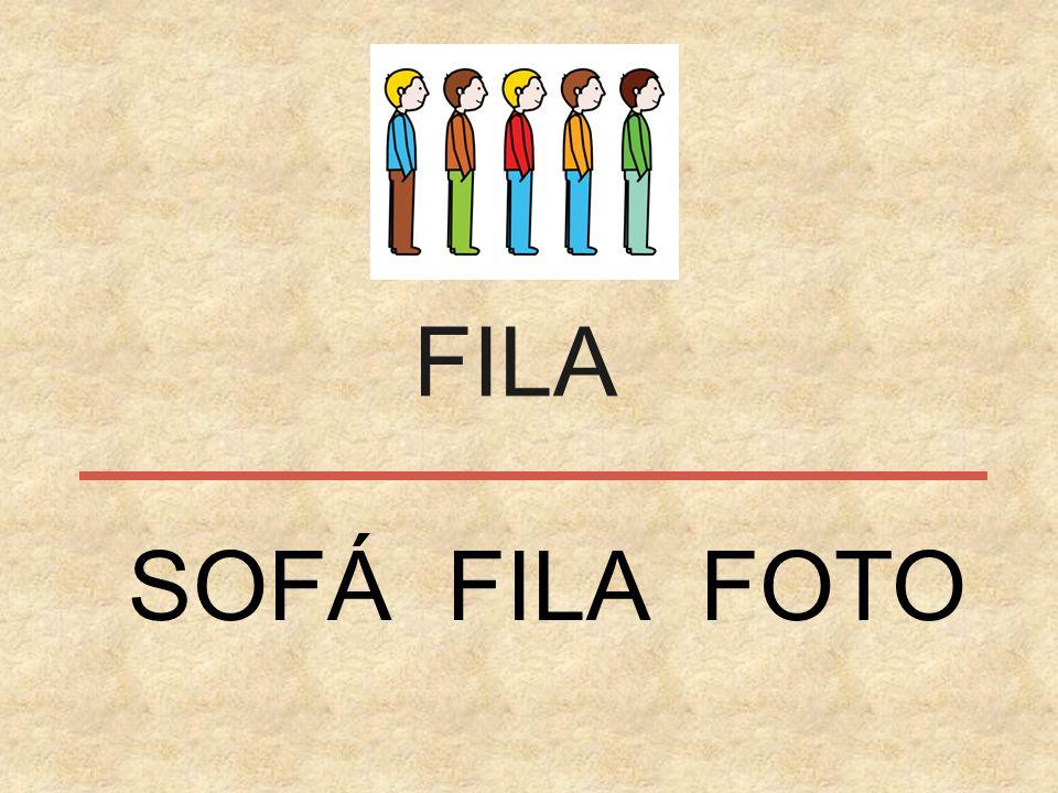 FILA SOFÁ FILA FOTO