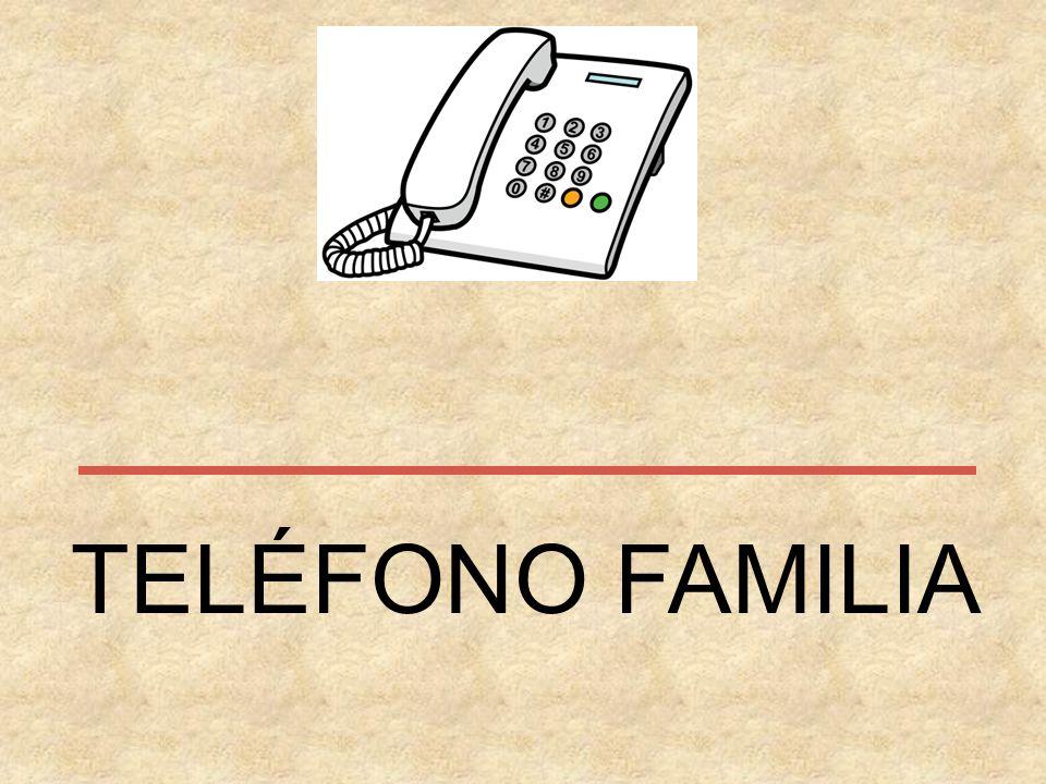 TELÉFONO FAMILIA