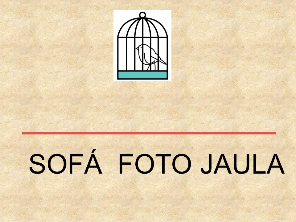 SOFÁ FOTO JAULA