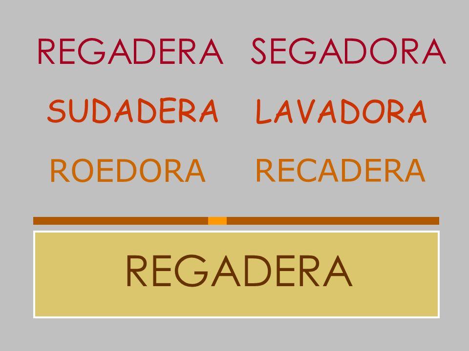 REGADERA SEGADORA SUDADERA LAVADORA ROEDORA RECADERA REGADERA