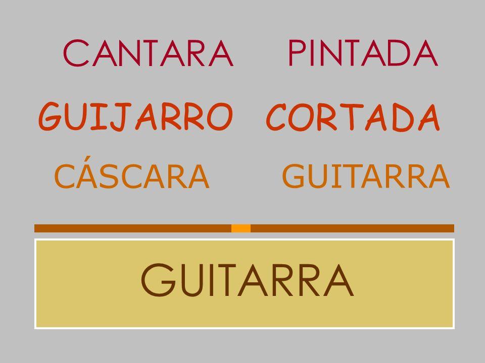CANTARA PINTADA GUIJARRO CORTADA CÁSCARA GUITARRA GUITARRA