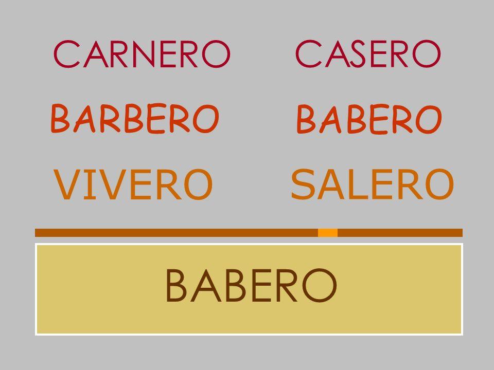 CARNERO CASERO BARBERO BABERO VIVERO SALERO BABERO
