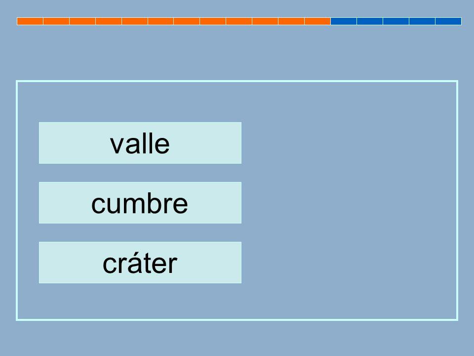 valle cumbre cráter