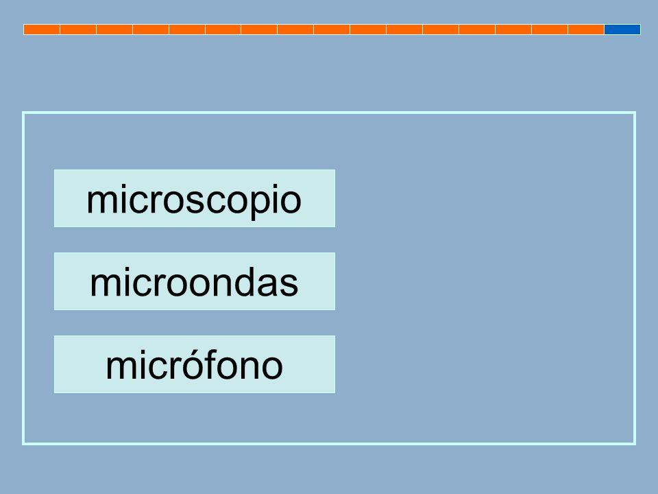 microscopio microondas micrófono