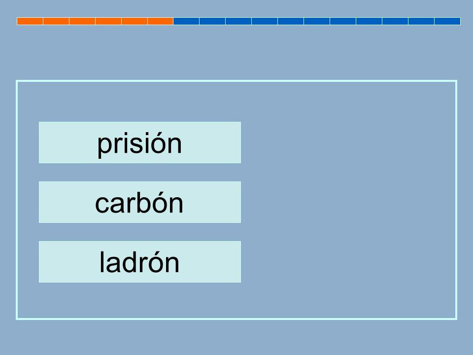 prisión carbón ladrón