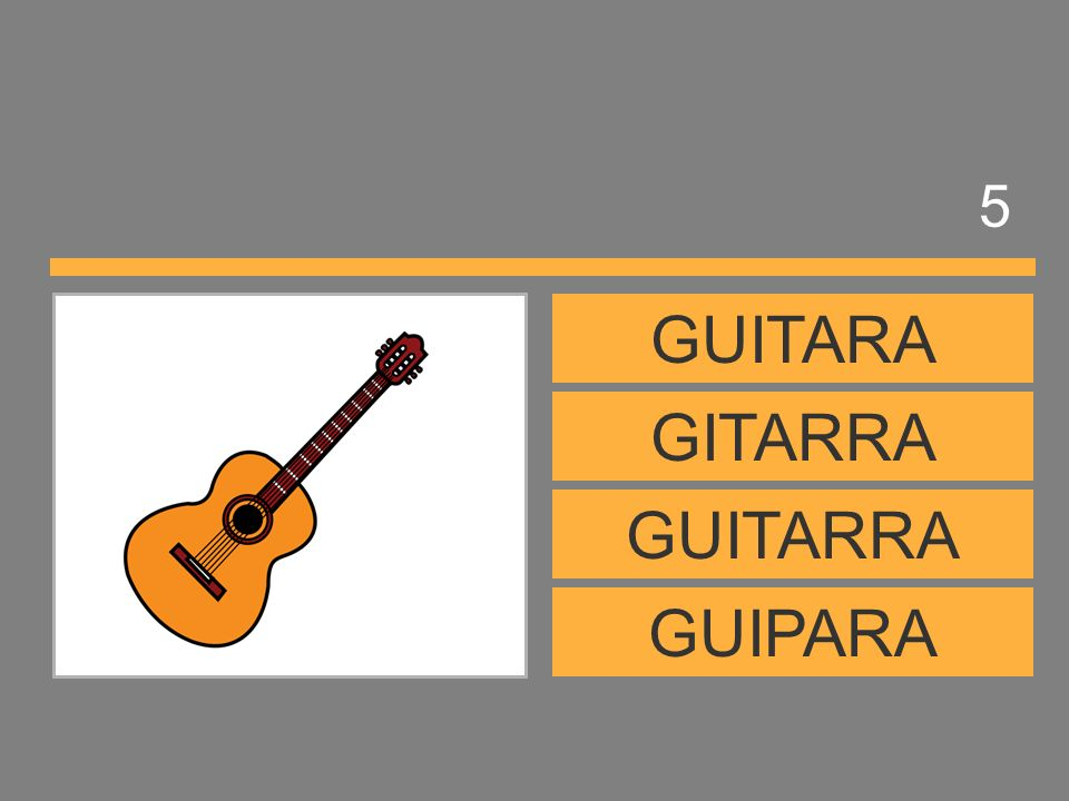 5 GUITARA GITARRA GUITARRA GUIPARA