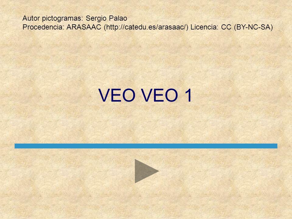 VEO VEO 1 Autor pictogramas: Sergio Palao
