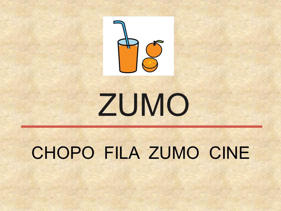 ZUMO CHOPO FILA ZUMO CINE