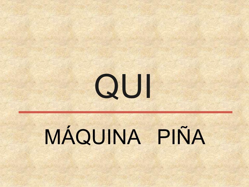 QUI MÁQUINA PIÑA
