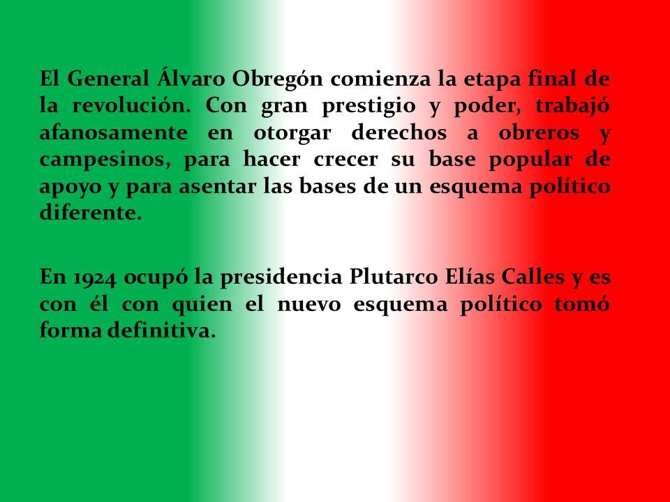 El General Álvaro Obregón comienza la etapa final de la revolución