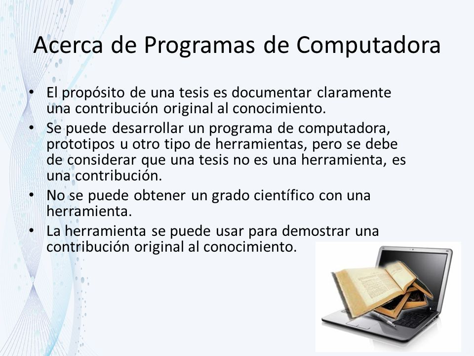 Acerca de Programas de Computadora