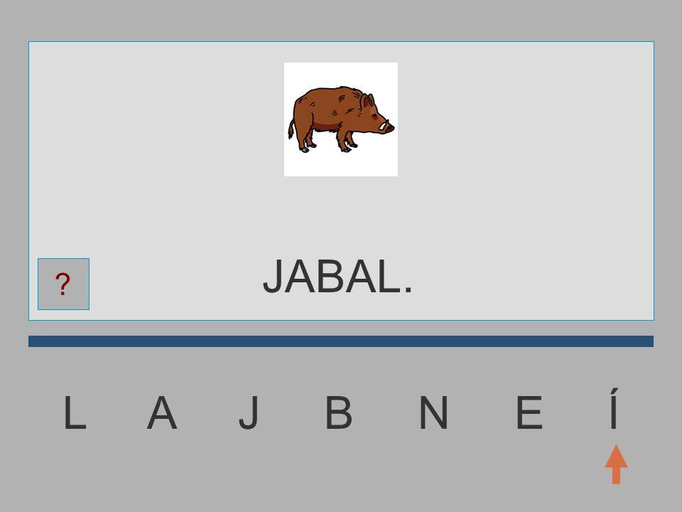 JABAL. L A J B N E Í