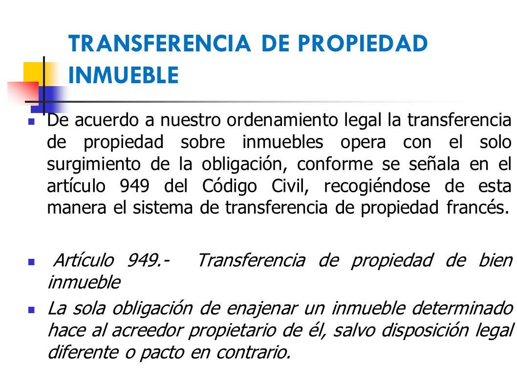 Derecho De Propiedad Transferencia Y El Registro Ppt Descargar # Codigo Civil Muebles E Inmuebles