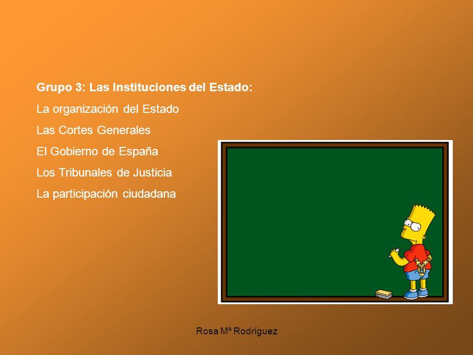 Grupo 3: Las Instituciones del Estado: La organización del Estado