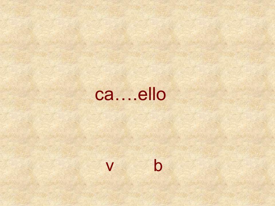 ca….ello v b