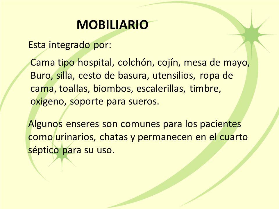 MOBILIARIO Esta integrado por: