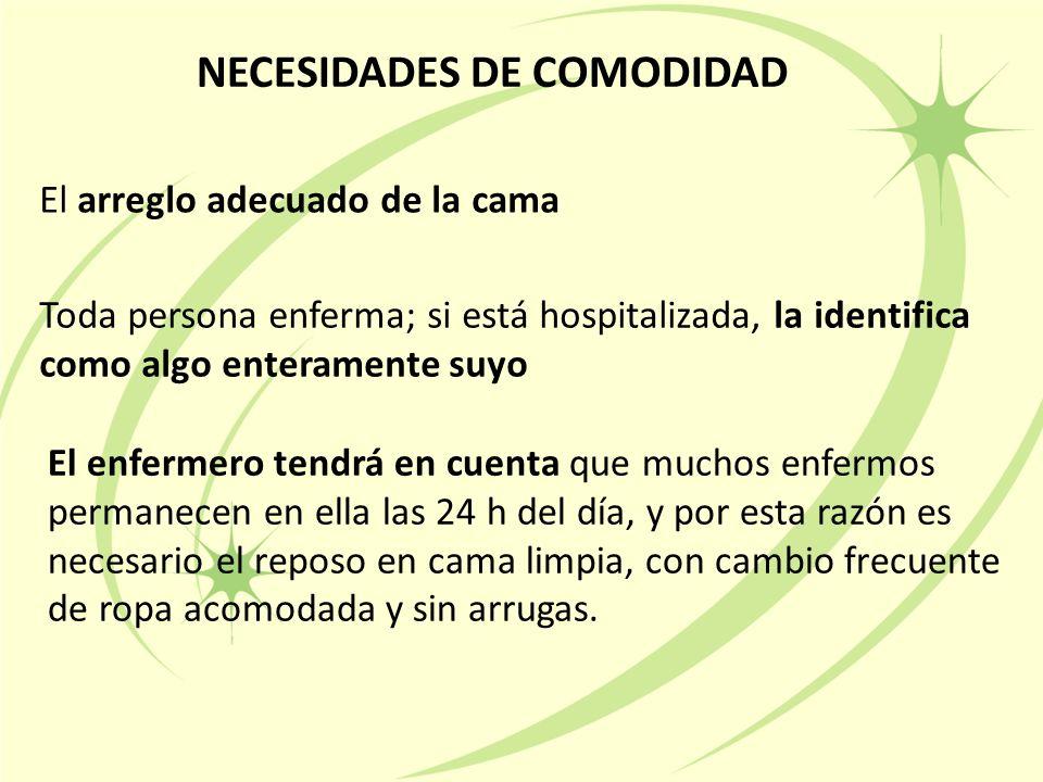 NECESIDADES DE COMODIDAD