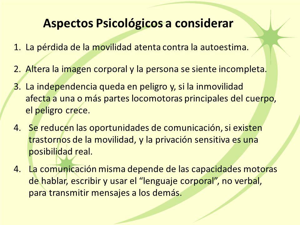 Aspectos Psicológicos a considerar