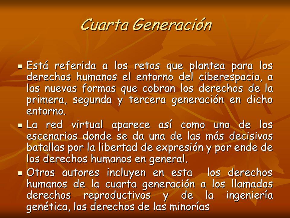 Derechos De Cuarta Generacion | Generaciones De Los Derechos Humanos Ppt Descargar