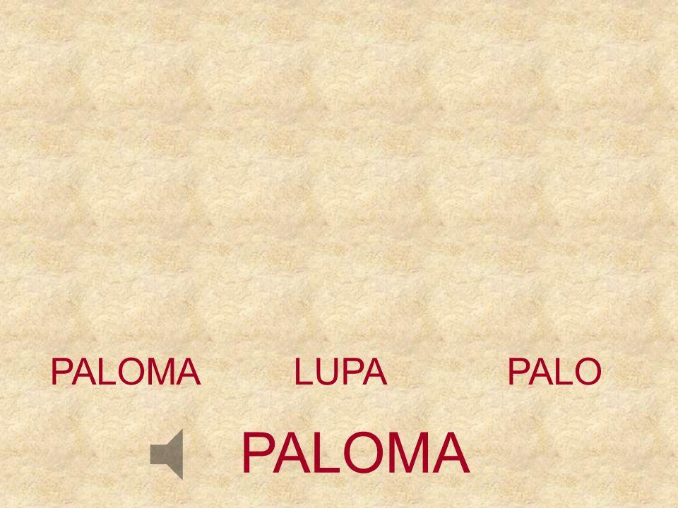 PALOMA LUPA PALO PALOMA